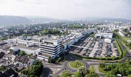 Coblenza Germania 09 07 Vista aerea 2017 del quartiere generale e della fabbrica di Stabilus a Coblenza potete inoltre vedere le  Immagini Stock