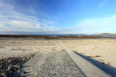 Cobo Bay Geurnsey Royalty Free Stock Photography
