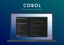 Cobol programming language royalty free stock photo