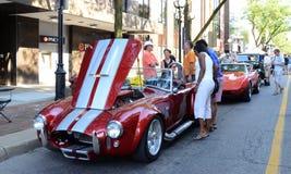 Cobra 1966 de la CA de Shelby del tributo Foto de archivo libre de regalías