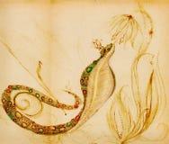 Cobra com uma coroa em sua cabeça ilustração stock