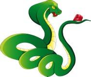 Cobra con el rubí Fotografía de archivo libre de regalías