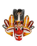 Cobra devil mask. The Twin Cobra Devil, Dwi Naga Raksha, provides protection from all dangers Royalty Free Stock Photography