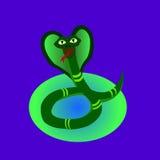 Cobra em um fundo azul Imagens de Stock Royalty Free