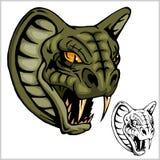 Cobra Head Mascot - vector illustration Stock Image