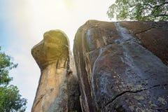 Cobra hood cave in Sigiriya Stock Photos