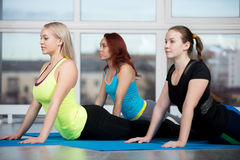 Cobra pilates exercise Stock Photo