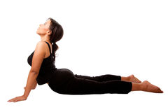 Cobra position Yoga Excercise Royalty Free Stock Photos