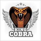 Cobra real - diseño de la plantilla de la mascota Ilustración del vector Foto de archivo libre de regalías