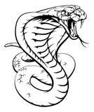 Cobra Snake. An illustration of a king cobra snake in black and white royalty free illustration