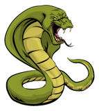 Cobra snake about to strike. An illustration of a cobra snake sports mascot about to strike Stock Photography