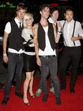 Cobra Starship. Attends the Premiere of 'Snakes on a Plane' held at the Grauman's Chinese Theater in Hollywood, California on August 17, 2006 Stock Photo