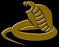 Cobra stylisé d'or Photographie stock