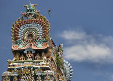 Cobra top of Gopuram at Mahalingeswarar Temple. Stock Photography