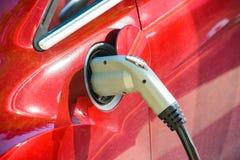 Cobrar do veículo eléctrico Porto da carga de EV e soquete de carregamento rápido imagens de stock royalty free