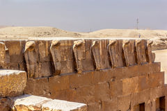 Cobras de tombe de Djoser photos stock