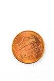 1 cobre da moeda do centavo de E.U. no deus que nós confiamos Fotos de Stock