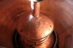 Cobre de la elaboración de la cerveza Fotos de archivo libres de regalías