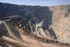 cobre de mina Arkivfoto