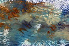 Cobre e Teal Abstract Background Imagens de Stock