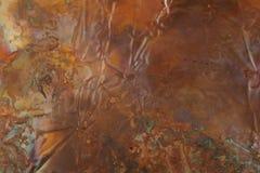 Cobre hued do arco-íris fotografia de stock royalty free