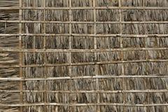 Cobrir com sapê e a parede de bambu Fotografia de Stock Royalty Free
