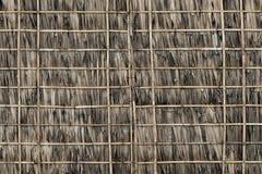 Cobrir com sapê e a parede de bambu Fotos de Stock Royalty Free