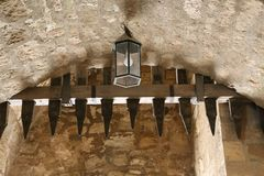 Coburg Fortress. The Veste in Coburg, Germany. fragments. The Veste Coburg, or Coburg Fortress, is one of Germany`s largest castles. It is situated on a hill stock photos
