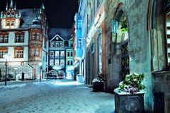 Coburg przy nocą zdjęcie royalty free