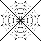 Cobweb. Vector illustration of black cobweb Stock Image