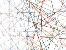 Cobweb dai filetti con il unsharpness Fotografie Stock