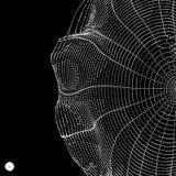 Cobweb Denna är mappen av formatet EPS10 Anslutningsstruktur stil för teknologi 3D också vektor för coreldrawillustration royaltyfri illustrationer