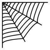 Cobweb Rengöringsduk för spindel` s vektor illustrationer