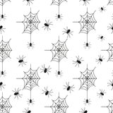 Cobweb seamless pattern background spider web halloween black vector. Insect design spiderweb horror danger trap scary silhouette arachnid. Spooky fear thread vector illustration