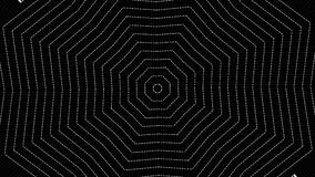 Cobweb or spider web animation in white and black geometric style.