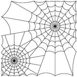 Cobweb vector. Vector illustration of cobweb isolate on white Royalty Free Stock Photography