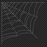Cobweb Vektorspindelrengöringsduk Designbeståndsdelar på en genomskinlig bakgrund stock illustrationer