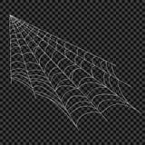 Cobweb Vektorspindelrengöringsduk Designbeståndsdelar på en genomskinlig bakgrund vektor illustrationer