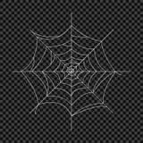 Cobweb Vektorspindelrengöringsduk Designbeståndsdelar på en isolerad genomskinlig bakgrund stock illustrationer