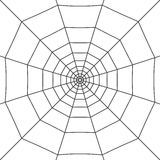 Cobweb on white. Halloween spider web. Cobweb on white background. Vector illustration Royalty Free Stock Photography