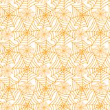 Cobwebs geometric pattern seamless texture. Seamless texture with yellow cobwebs geometric pattern. Seamless tile wallpaper background Royalty Free Stock Photos