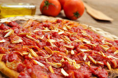 Coc de tomata, a flat pie with tomato and tuna typical of Valenc Stock Images