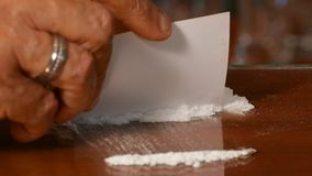Cocaína, drogas vídeos de arquivo