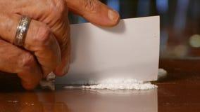 Cocaïne, Onwettige Drugs stock videobeelden