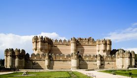 Coca. Castle (Castillo de ) is a fortification constructed in the 15th century and is located in  in Segovia province in Castilla Leon central Spain Stock Photos