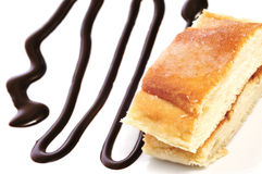 Coca amb sucre, typical catalan cake Royalty Free Stock Photo