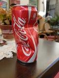 Coca amolgada cola Fotografia de Stock Royalty Free