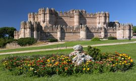 Coca Castle Castillo de Coca - castelo Mudejar do século XV situado na província de Segovia, de Castile e de Leon, Espanha fotos de stock royalty free