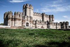 Coca Castle (Castillo de Coca) är en befästning som in konstrueras arkivbilder