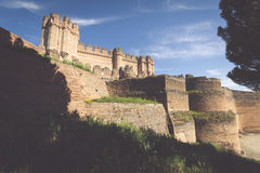 Coca Castle (Castillo de Coca) è una fortificazione costruita dentro Fotografie Stock